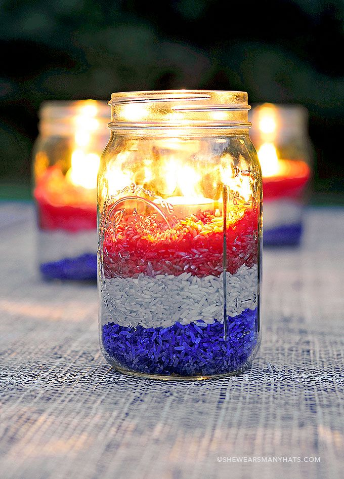 Fifty Patriotic Mason Jar Ideas
