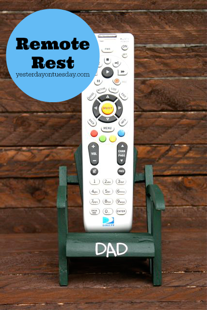 DIY TV Remote Rest