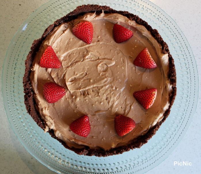 Strawberry choc cheesecake above