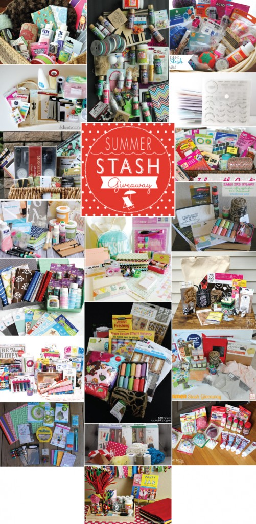 Win a basket of craft goodies in the Summer Stash Giveaway