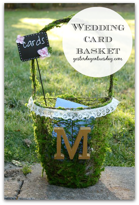 DIY Wedding Card Basket