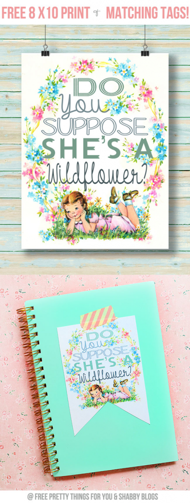 Wildflower Print and Tags by FPTFY