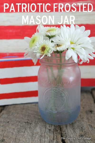 painted frosted glass mason jars by the country chic cottage