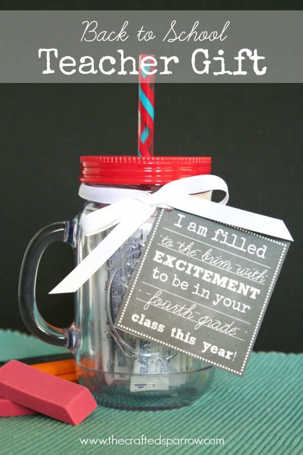 Back to School Teacher Gift by The Crafted Sparrow