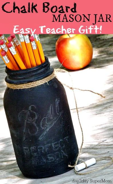 Chalkboard Mason Jar by Day 2 Day Supermom
