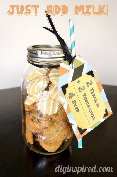 Cookie Mason Jar Teacher Gift by DIY Inspired