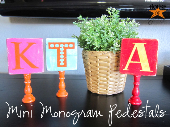 Mini Monogram Pedestals