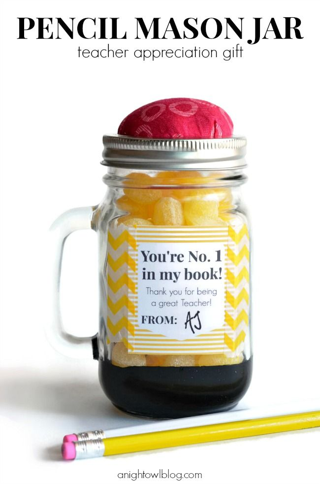Pencil Mason Jar by A Night Owl Blog