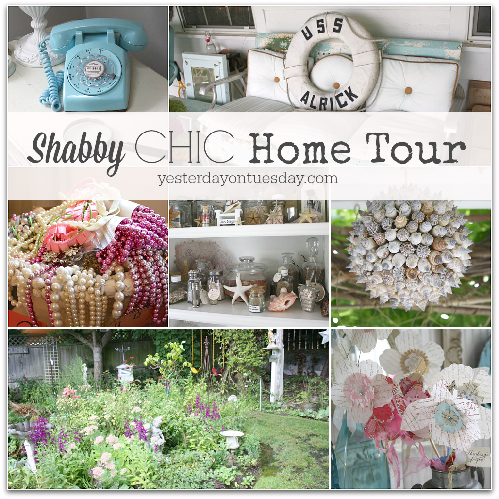 shabby chic home tour yesterday on tuesday. Black Bedroom Furniture Sets. Home Design Ideas