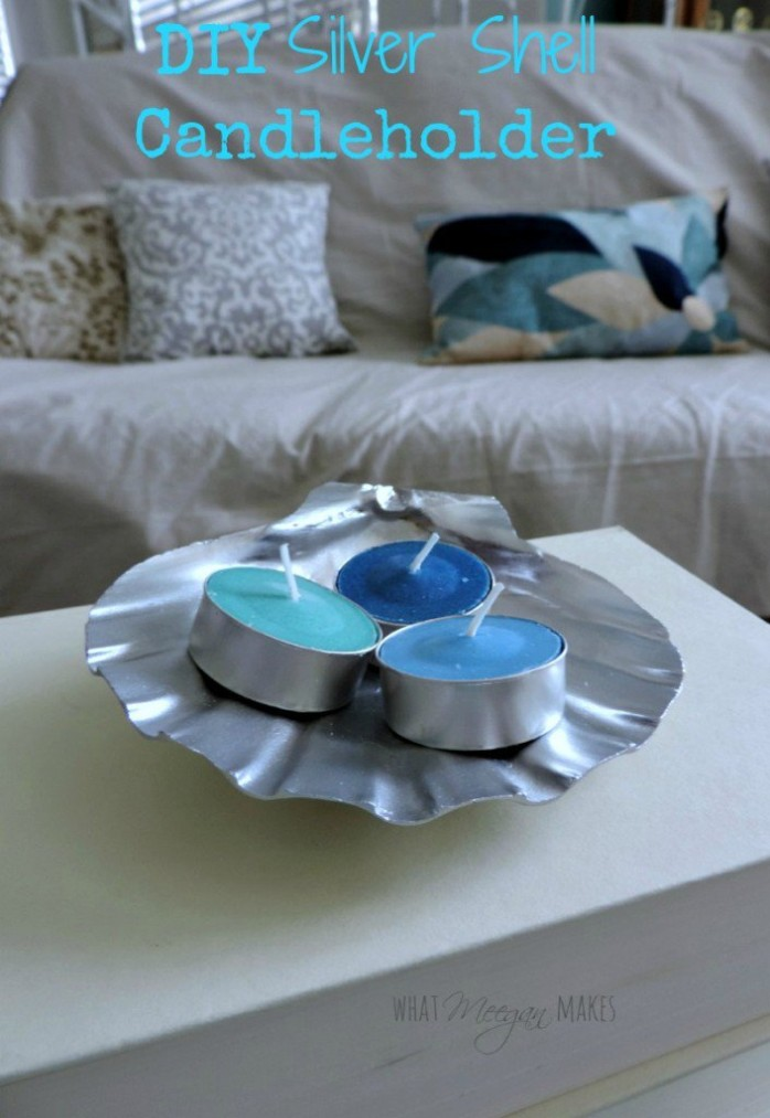 Silver-Shell-Candle-Holder