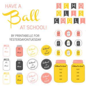Mason Jar School Printables #masonjars