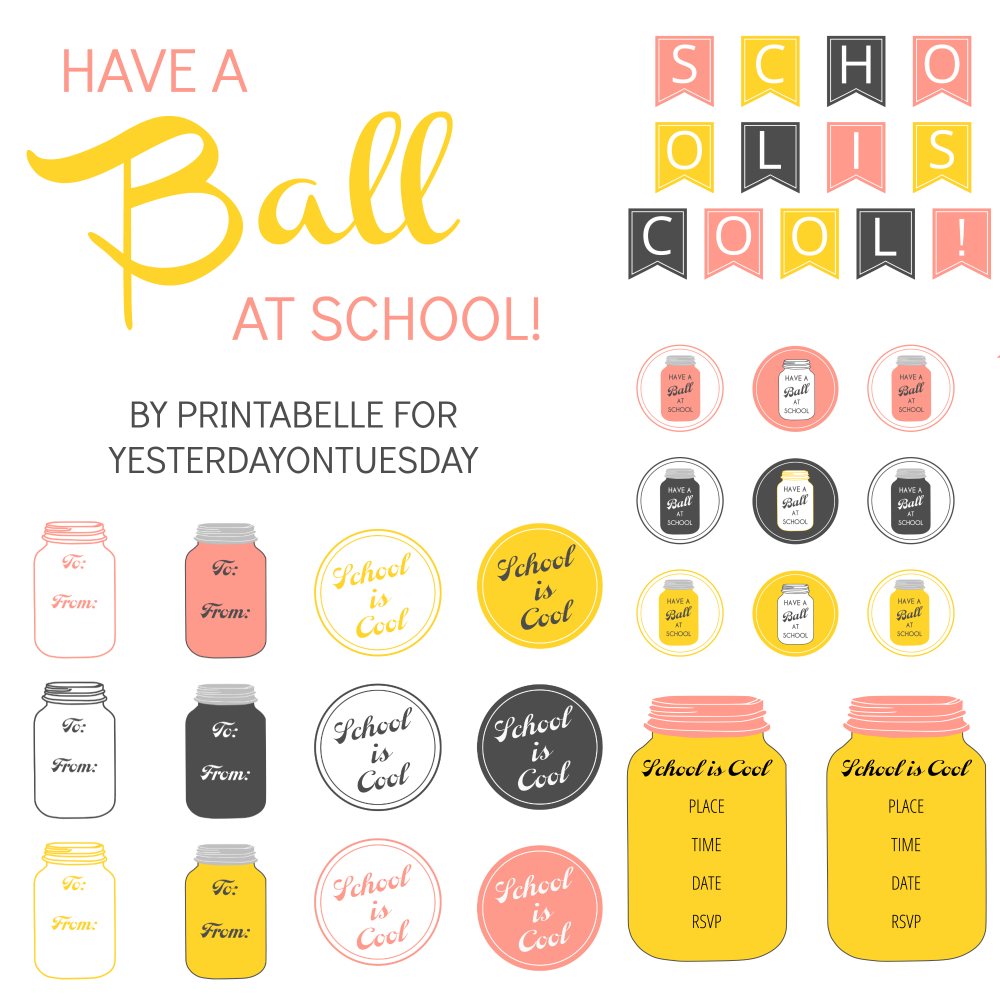 Mason Jar School Printables