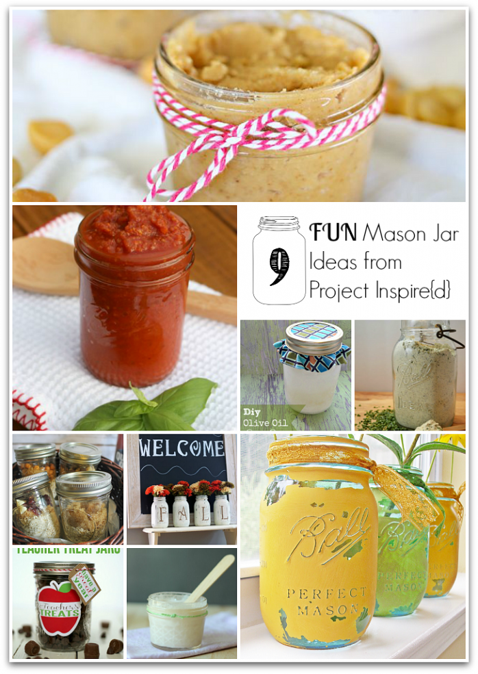 9 Fun Mason Jar Ideas from Project Inspire{d} #masonjars