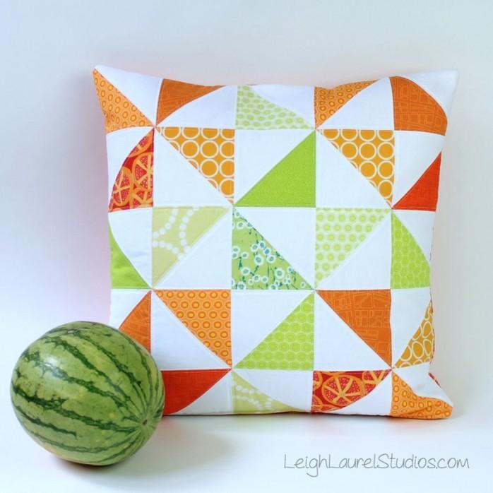 Melon Slice Pillow
