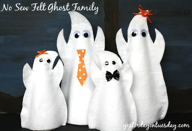 No Sew Felt Ghost Family