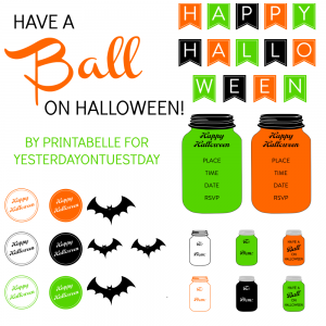 FREE set of Halloween Mason Jar Printables, perfect for parties, decor and gifts!