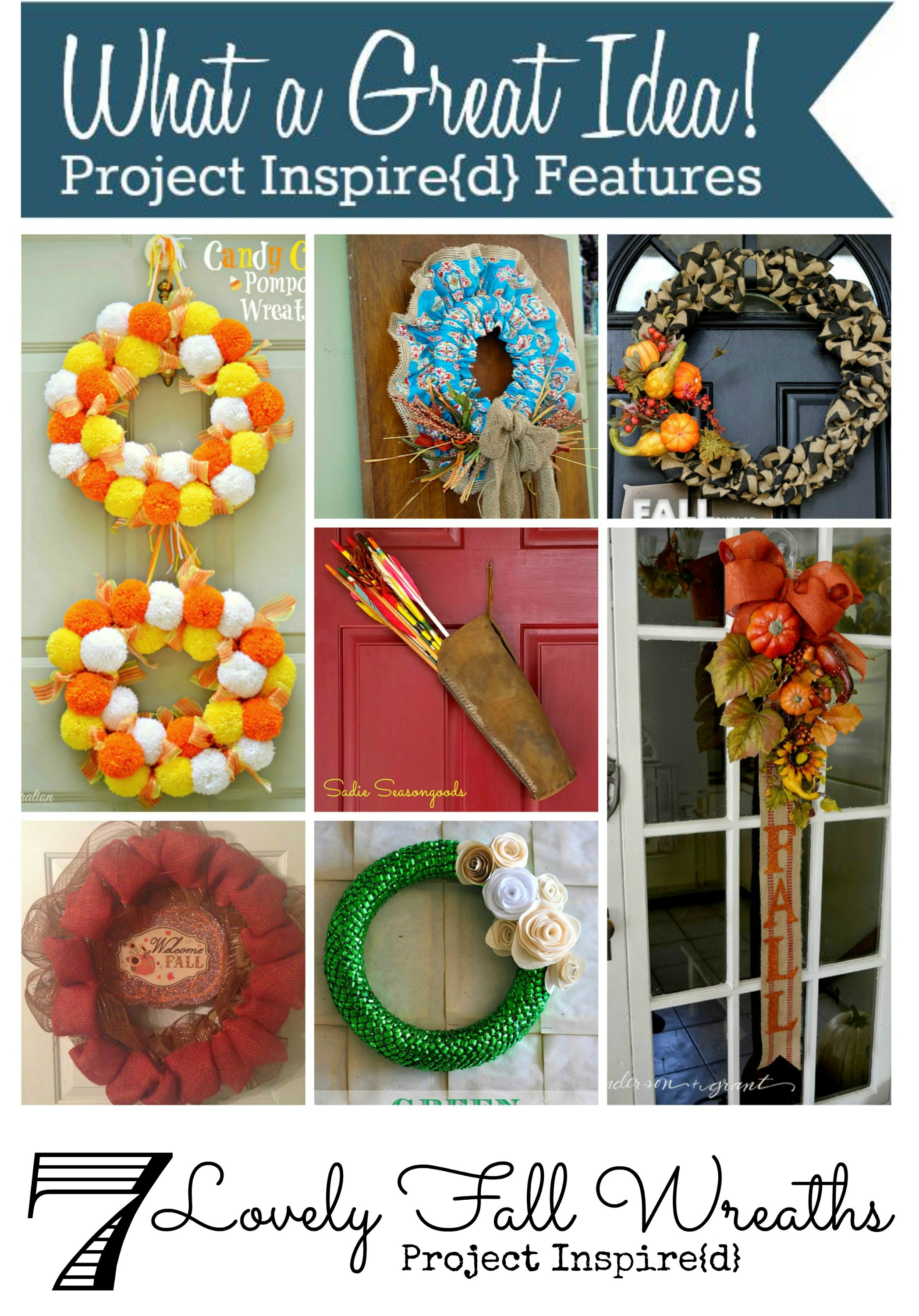7 Lovely Fall Wreaths