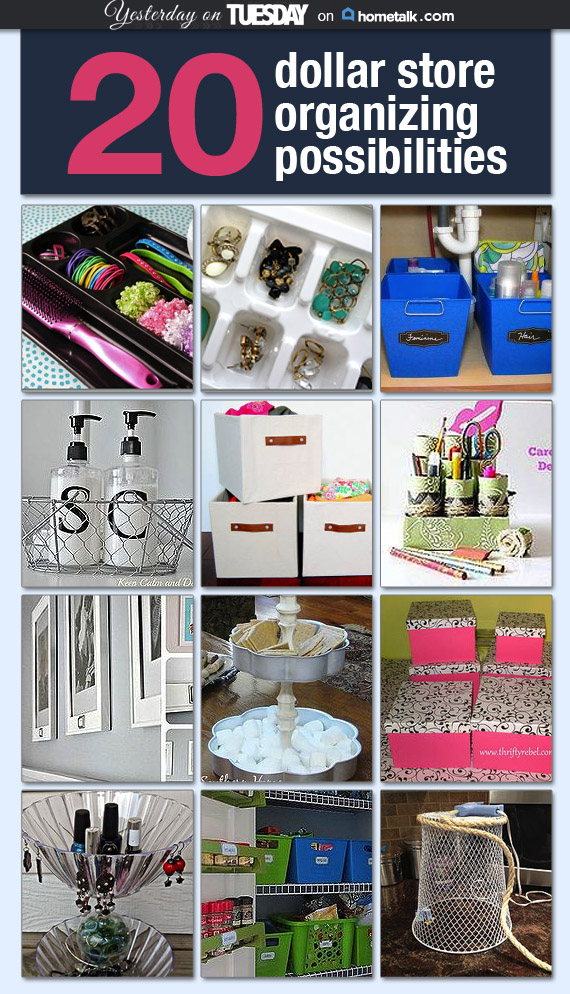 20 Dollar Store Organizing Ideas
