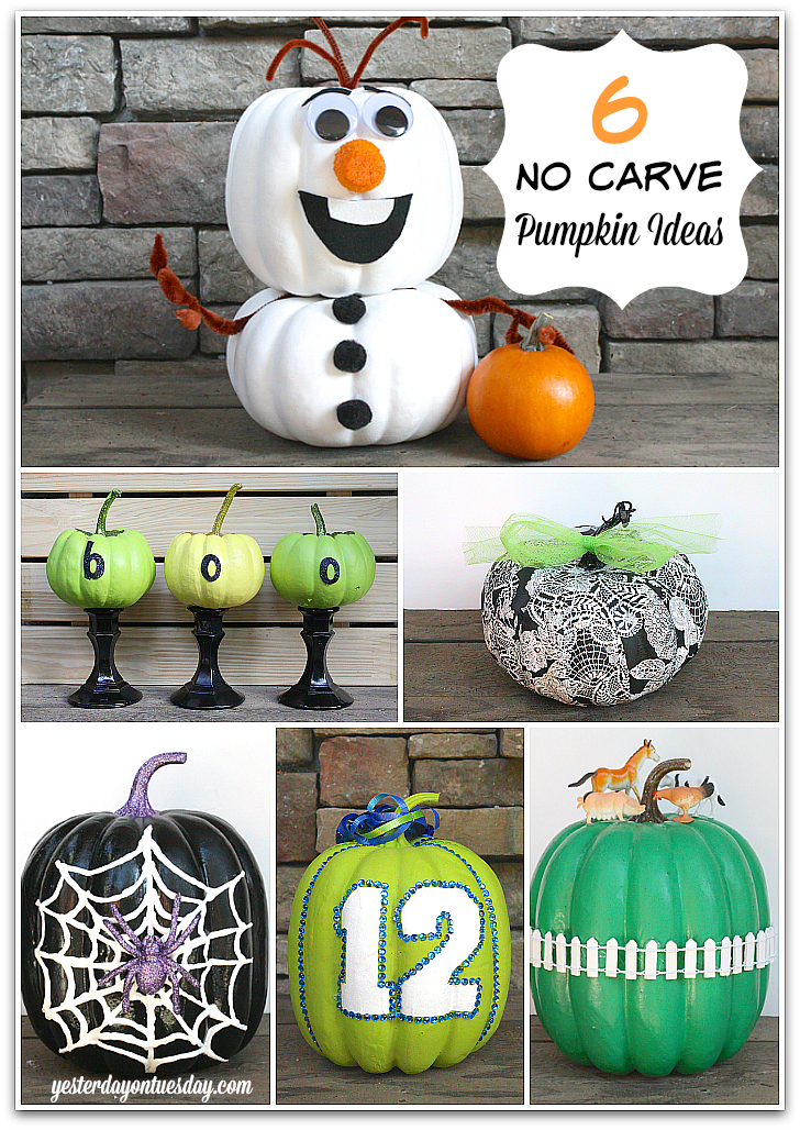 6 Cool No Carve Pumpkin Ideas Yesterday On Tuesday