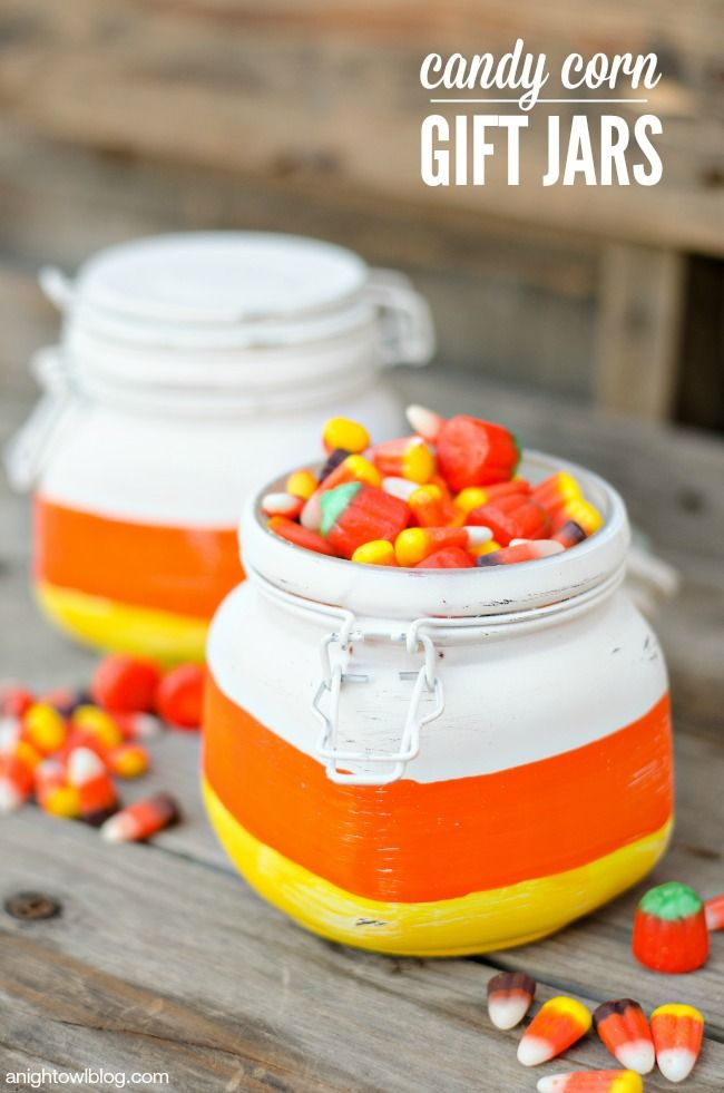 Candy Corn Gift Jars
