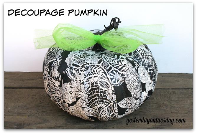 Lacy No Carve Pumpkin