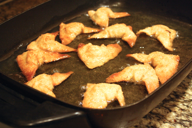 Frying Wontons