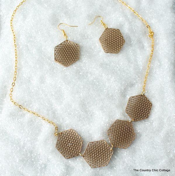 Geometric Lace Jewelry