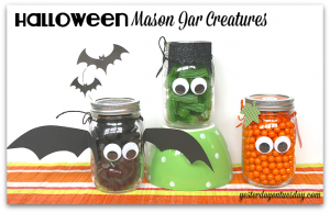 Halloween Mason Jar Creatures