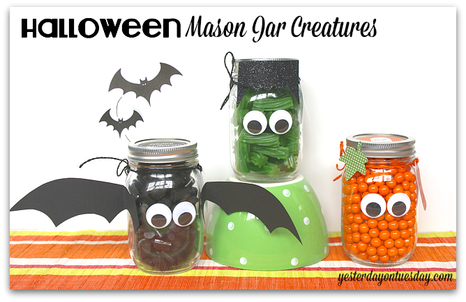 Halloween Mason Jar Creatures