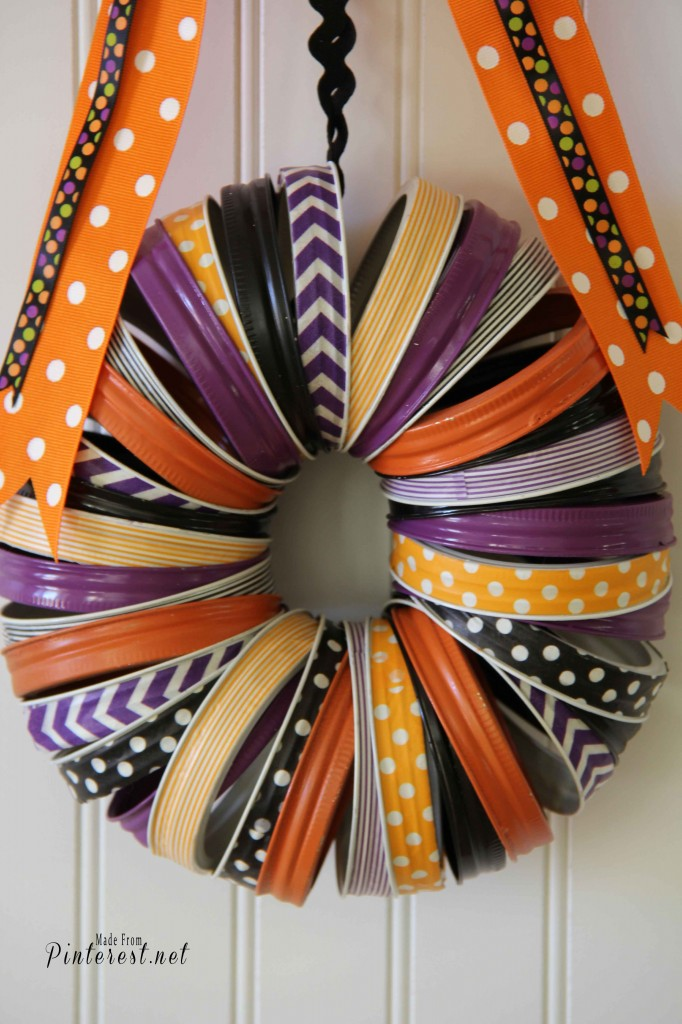 Halloween Washi Tape Wreath