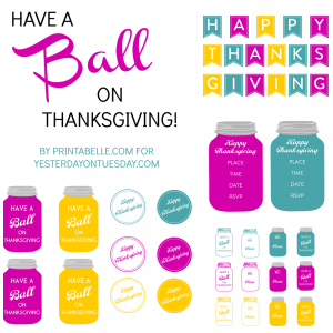 Thanksgiving Mason Jar Printables