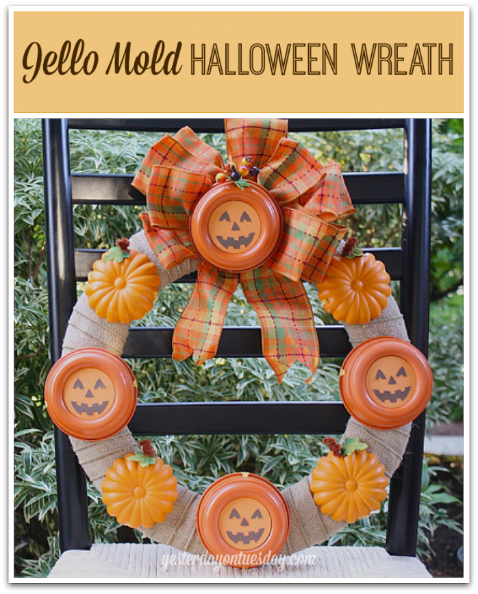 Jello Mold Halloween Wreath