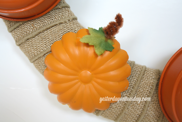 Jello Mold Pumpkin Wreath