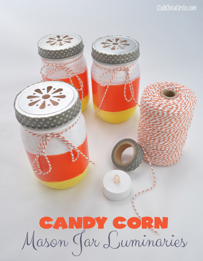 Mason-Jar-Candy-Corn-Painted-Luminaries-Craft-@clubchicacircle
