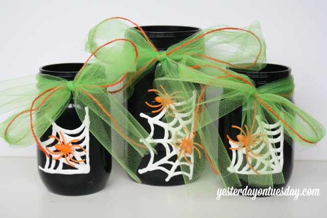 Mason Jars with Ribbons
