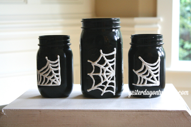 Mason Jars with Webs