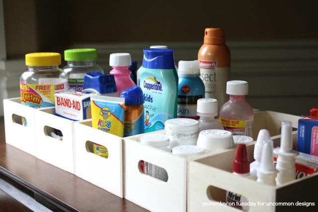 Medicine Cabinet Organized Meds