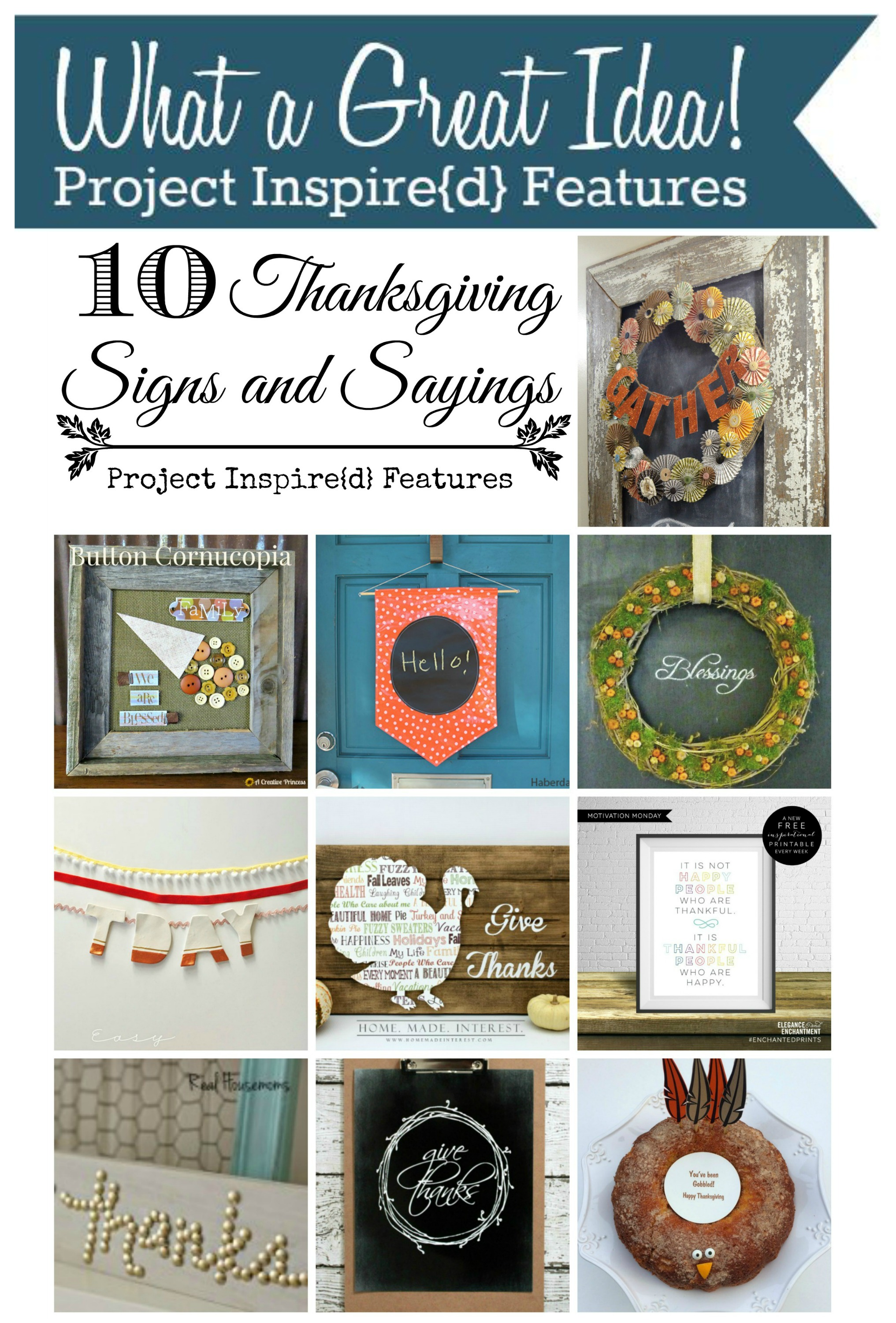 PI Features: Thanksgiving Signs
