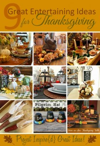 Great Entertaining Ideas for Thanksgiving, shared at Project Inspire{d} via http://yesterdayontuesday.com