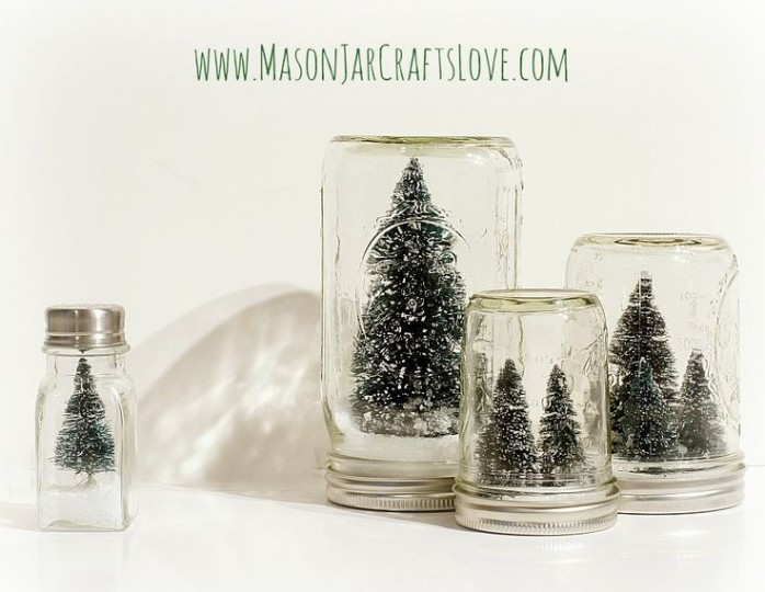 Christmas Craft Ideas Mason Jars Part - 38: Anthropologie Inspired Snow Globes