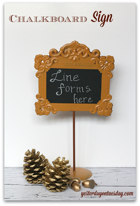 Charming Chalkboard Sign perfect for Thanksgiving Buffet Lines