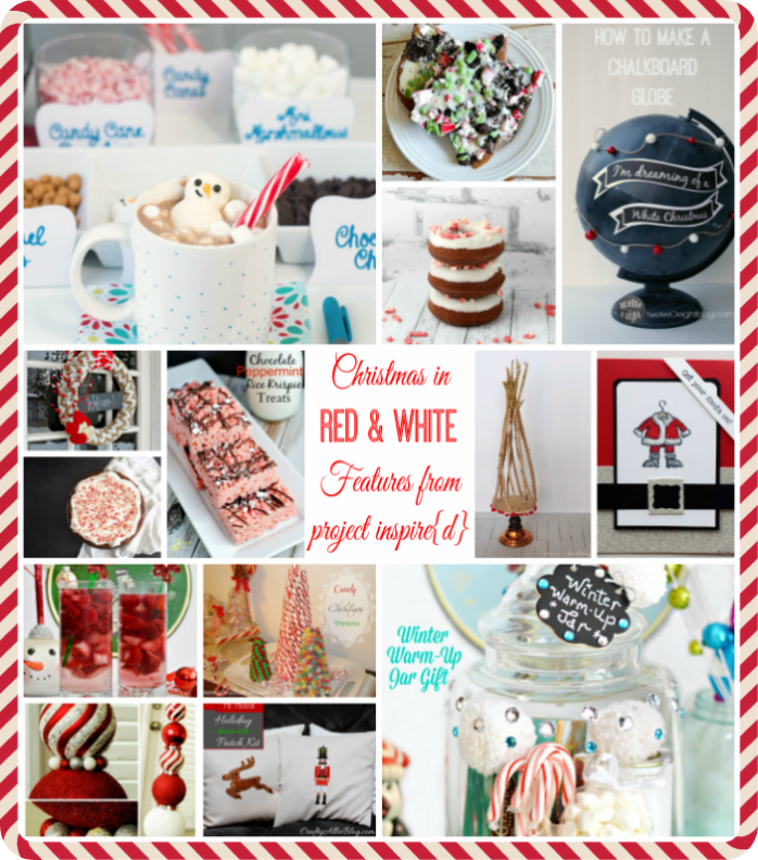 Red and white Christmas ideas from Project Inspire{d} weekly linky party
