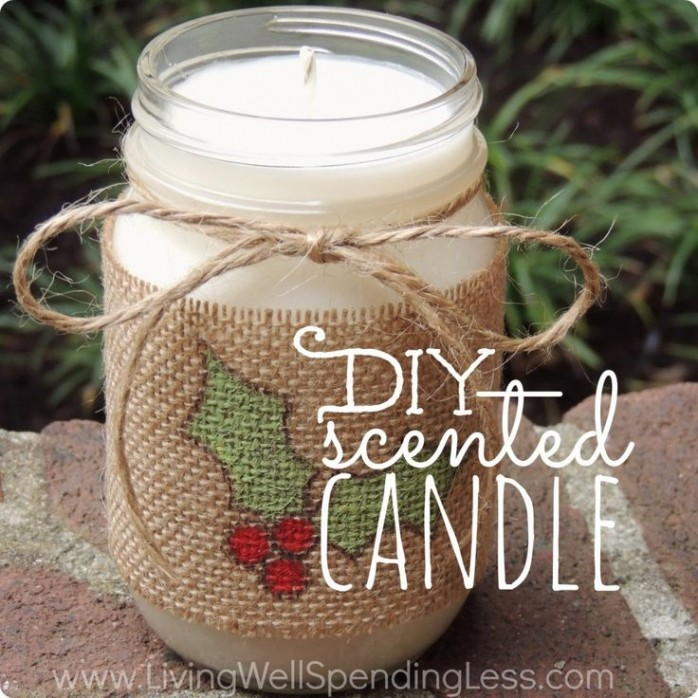 DIY Scented Candle by Living Well Spending Less