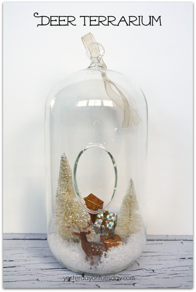 Deer Terrarium Christmas decor from http://yesterdayontuesday.com