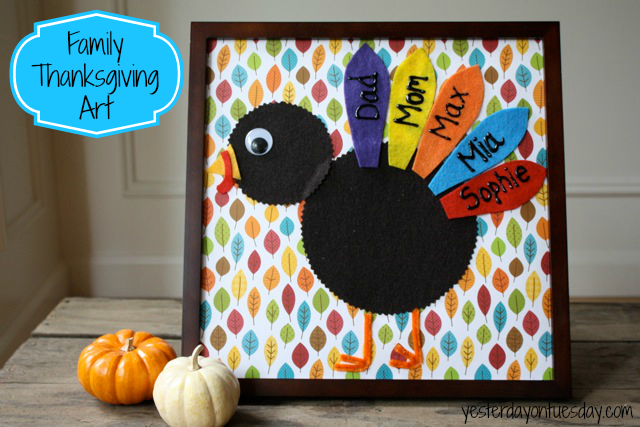 Charming Thanksgiving craft for kids from yesterdatontuesday.com