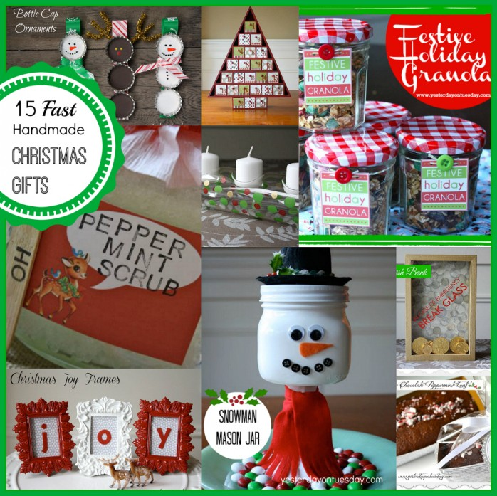 Simple Cheap Christmas Gifts: 15 Fast Handmade Christmas Gifts