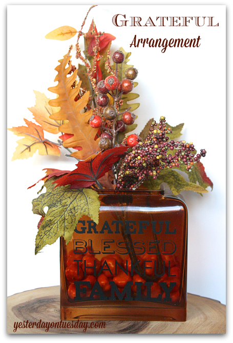 Simple yet stunning Grateful Arrangement for Thanksgiving