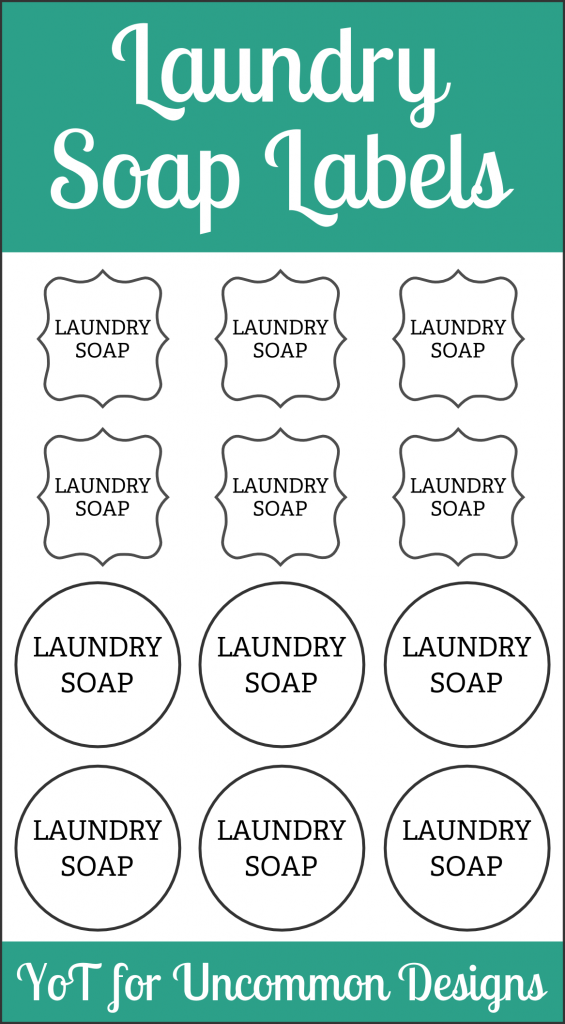 DIY Laundry Soap and Printable Labels