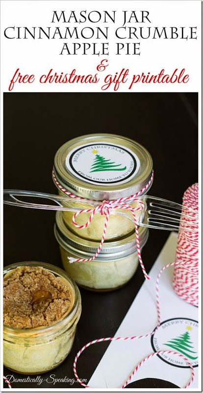 Mason Jar Cinnamon Pie by Domestically Speaking