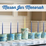 Rustic Mason Jar Menorah featuring DecoArt Chalky Finish Paint from http://yesterdayontuesday.com